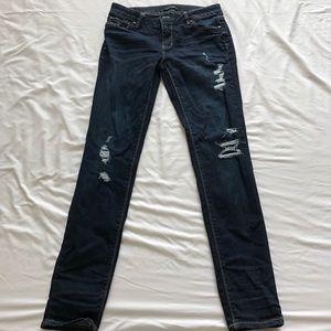 Dark Distressed Jeans! White House black market!